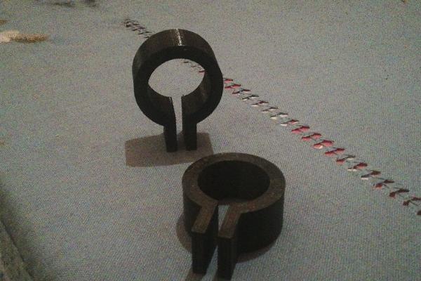 La stampa 3d applicata al tiro con l'arco. Spessori alla diottra del mirino dell'arco compound.