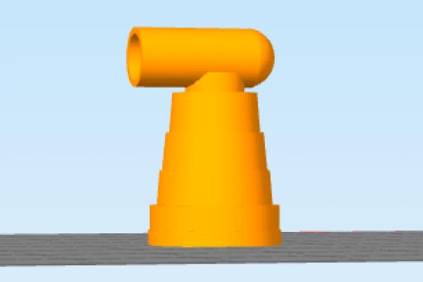 Disegno di oggetto proposto dal cliente, poi stampato