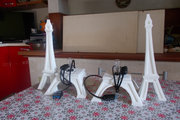 Coppia Lampade Tour Eiffel
