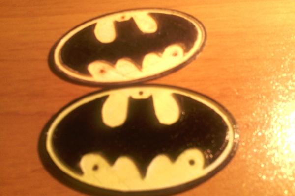 Placche con simbolo di batman in Pla