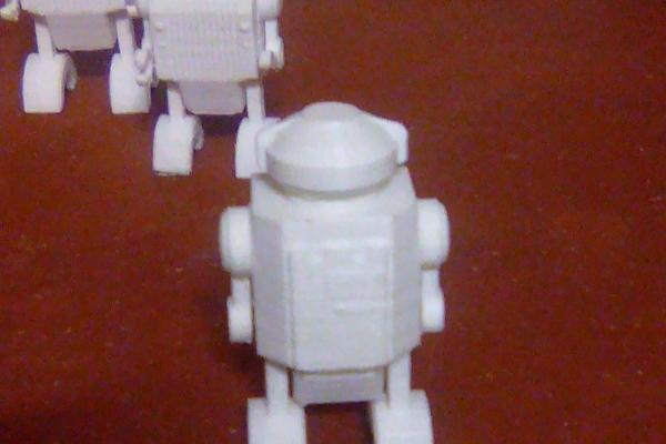 Piccoli robot stampati in Pla