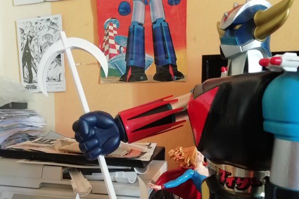 Restauro alabarda spaziale e portamissili  Goldrake Jumbo Shogun Warriors della Mattel (anno 1978)